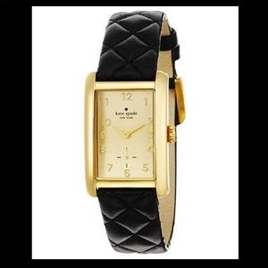 Kate spade black quilted watch